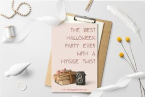 halloween party with hygge twist